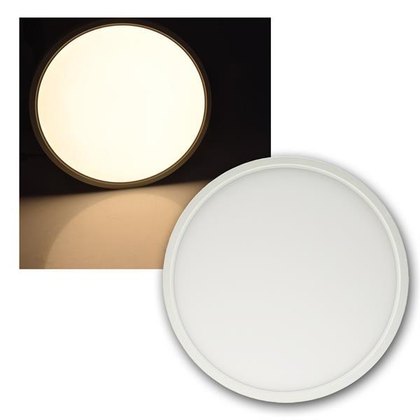 LED Deckenleuchte Santano 24W Ø30cm 1900lm warmweiß