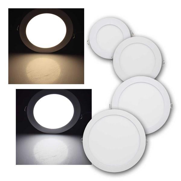 LED Licht-Panel QCP-R, 6/12/18/24W, rund