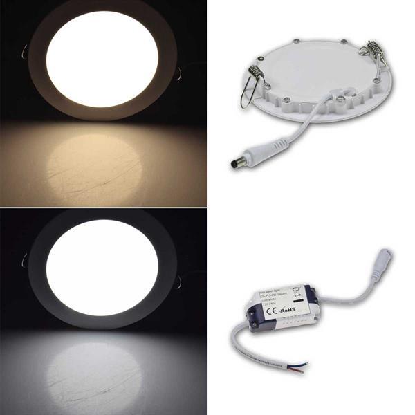 LED Deckenleuchte QCP-12R Ø12cm mit satinierten Diffusor