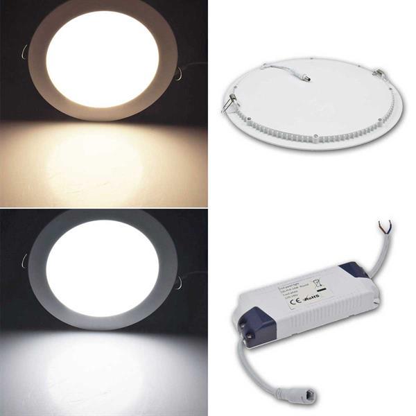 LED Wohnraumleuchte QCP-30R Ø30cm in warmweiß oder daylight