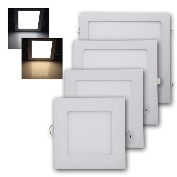 LED Licht-Panel QCP-Q 6/12/18/24W, eckig