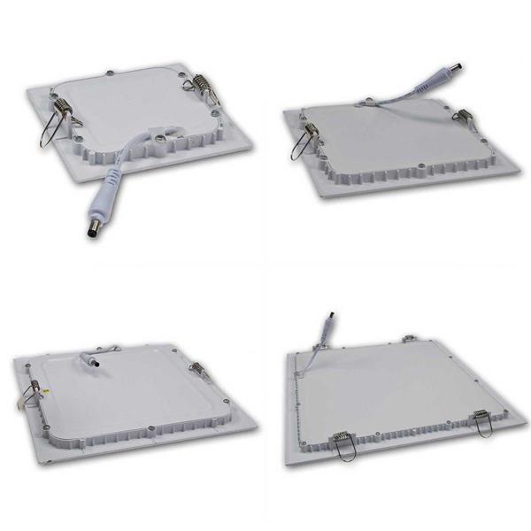 Quadratisches LED-Slim-Panel in 8 Ausführungen