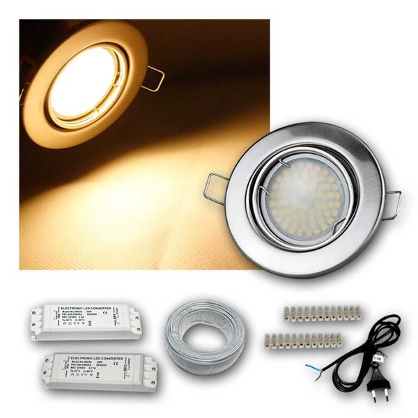 Einbaustrahler MR16 70 SMD LEDs, matt, 3/5/8er Set