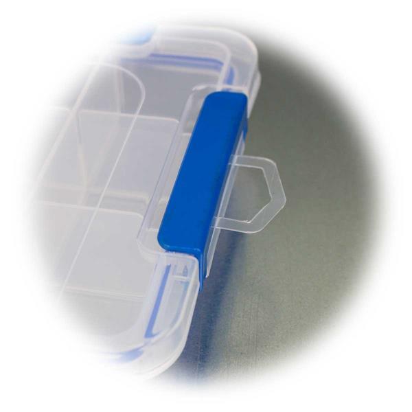 Transparente Sortimentsbox mit seitlicher Aufhängung