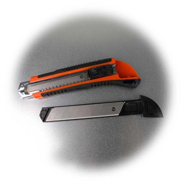Bastelmesser mit sicheren Halt durch Gummieinsätze