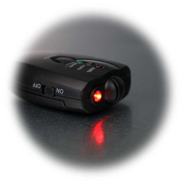 Atem-Alkoholmessgerät mit LED Leuchte an der Vorderseite