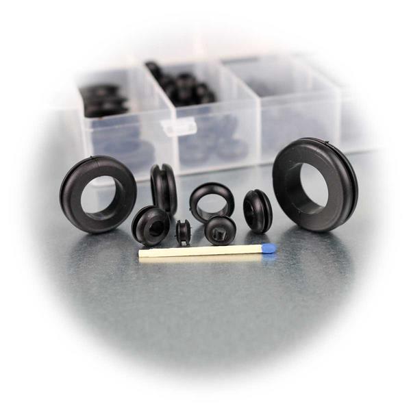 Tüllen aus flexiblem und robustem Gummi schützen vor Beschädigungen