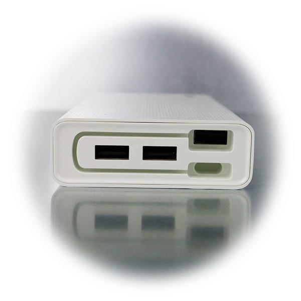 Powerbak mit 3xUSB-Port und integriertem Kabel