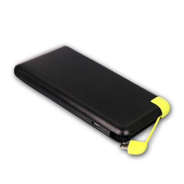 Powerbank 8.000mAh Li-Ion, Slim-Design, sw/grü