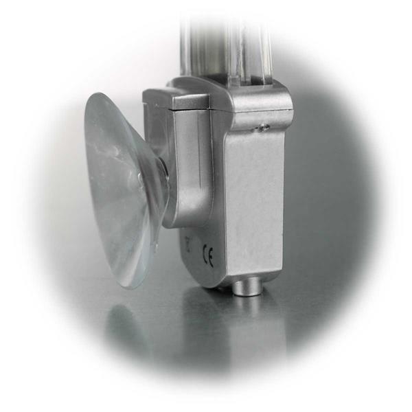 Fensterthermometer mit Saugnapf für einfache Befestigung an der Scheibe