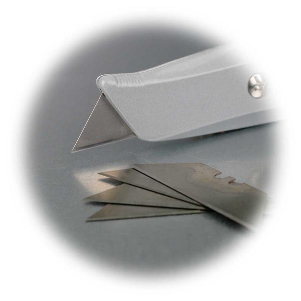 Teppichmesser mit feststehender Klinge, Material Zinkdruckguss