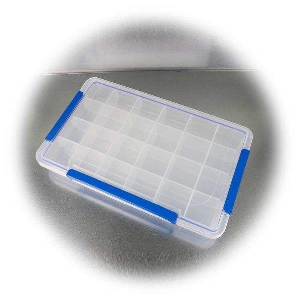 Variable Kunststoffbox für Kleinteile mit max. 24 Fächern