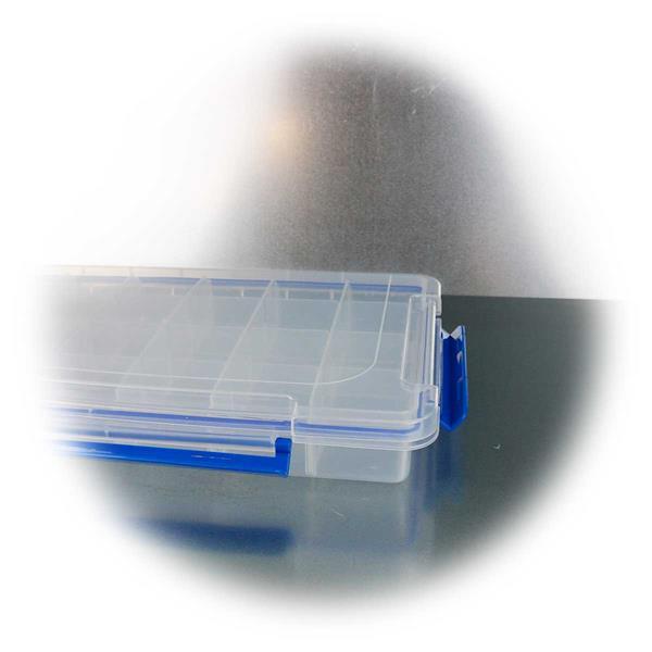 35x22cm große Sortimentsbox mit 8 variablen Trennstegen