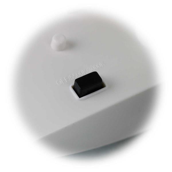 LED Wandleuchte mit Solarpanel, Leuchtfarbe manuell einstellbar