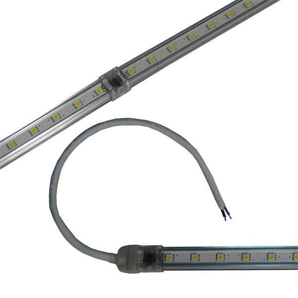 SMD LED Lichtleiste mit Anschlusskabel und Halteklammern