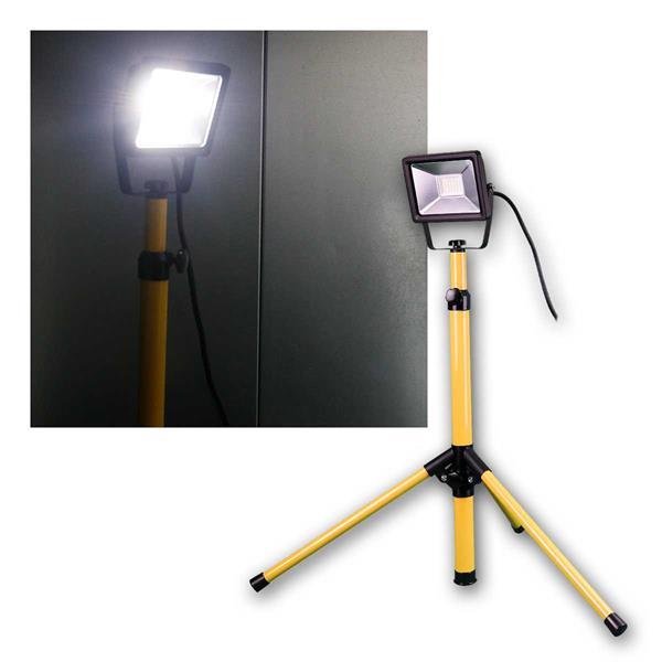 LED Baustrahler 20W, Teleskopstativ, 1650lm, 230V