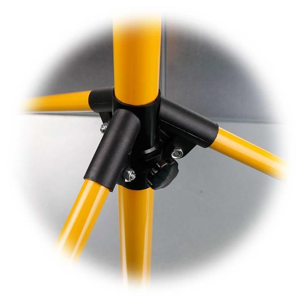 Höhenverstellbarer LED-Bauscheinwerfer mit stabilem Dreifuß