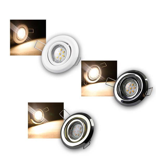 MR11 LED Einbaustrahler Sets 8 LED, 3/5/8er kalt/w