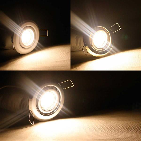 3/5/8er SET LED Einbaustrahler in 3 Farben