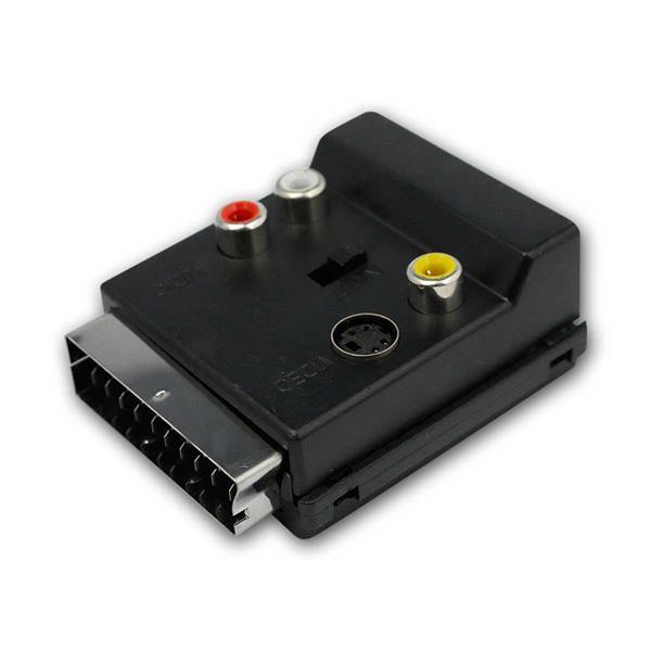 Scart-Adapterstecker, In/Out umschaltbar