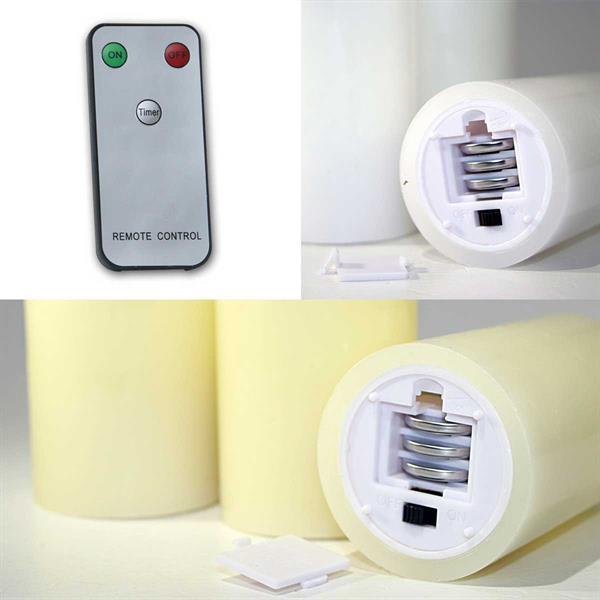 Batteriebetriebene LED Advents-Kerzen in 2 Farben