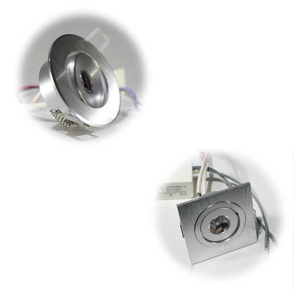 Runder oder eckiger LED Einbaustrahler