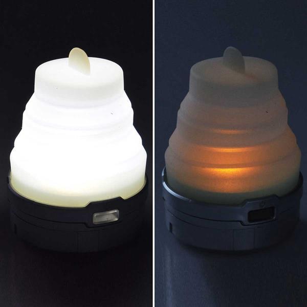 LED Outdoorleuchte mit neutralweißem, RGB und flackernden Licht