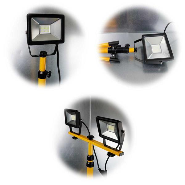 Baustrahler mit SMD-LEDS mit 20W, 30W oder 2x20W Leistung