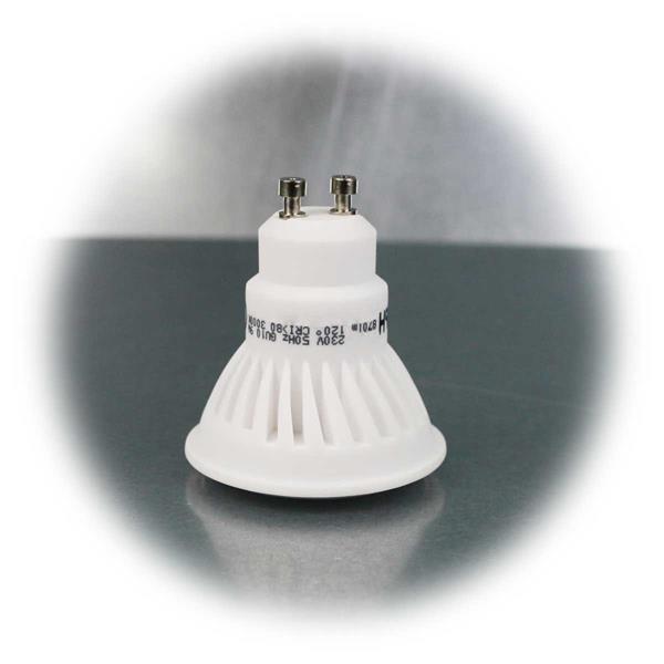 LED-Strahler mit Keramikgehäuse und GU10-Sockel