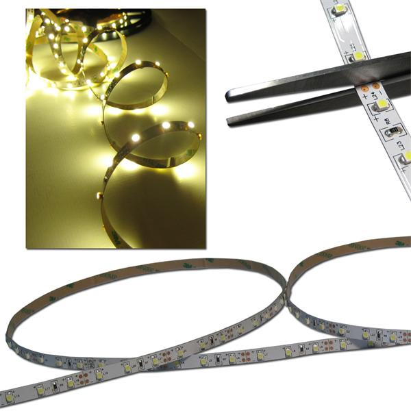 40cm FLEX SMD Streifen 24 LED warm-weiß PCB-WEISS