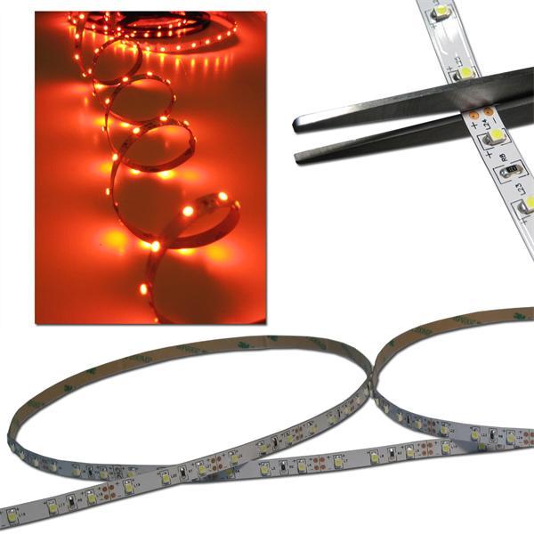 5m FLEX SMD Streifen 300 LED rot 12V PCB-WEISS
