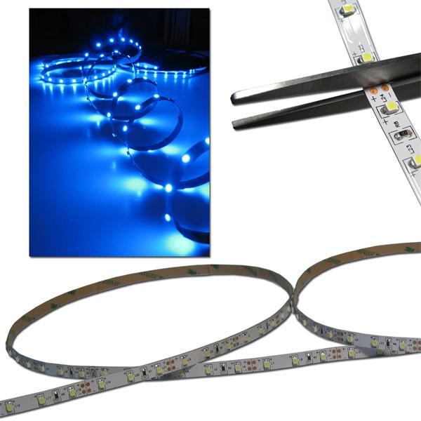 40cm FLEX SMD Streifen 24 LED blau 12V PCB-WEISS