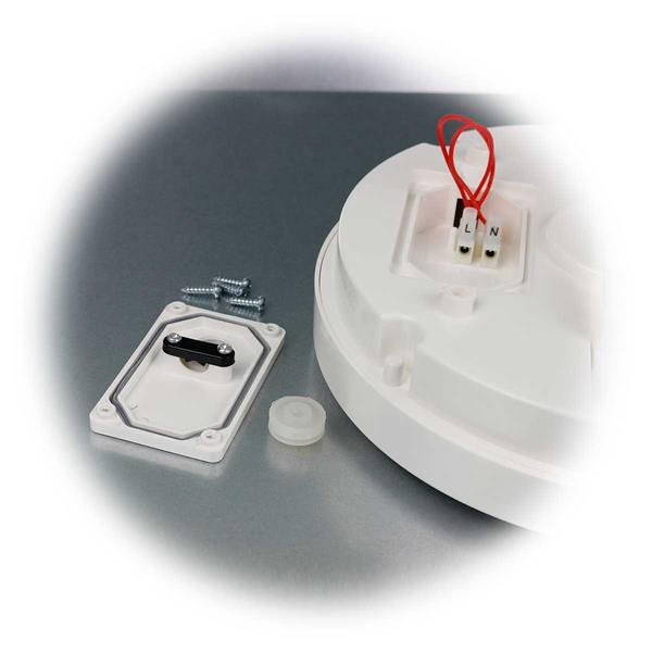 Die LED- Wand- oder Deckenleuchte mit 230V-Anschluss