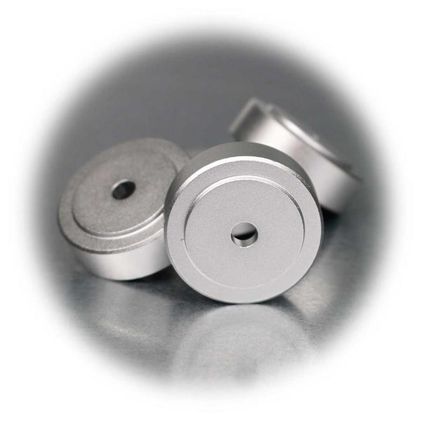 Vibrationsdämpfer mit Mittelbohrung 4,6mm zum Befestigen am Gerät