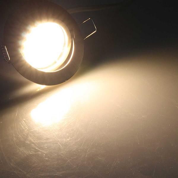 Warmweiß-leuchtender flacher LED-Einbaustrahler