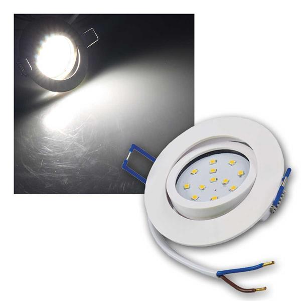 Einbaustrahler Flat-32 Eco Weiß LED neutralw 500lm
