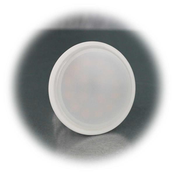 Weißer GU10-Strahler mit mattweißer Abdeckung