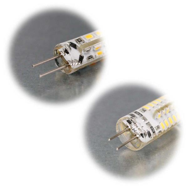 G4 Sockel LED Birnenform, Nutzung eines LED-Trafos wird empfohlen