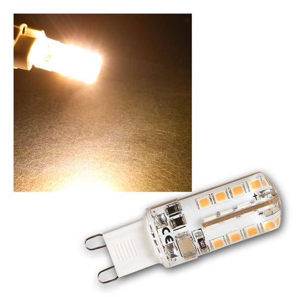 10x G9 LED Birne Silicia, warmw 180lm 360° 230V