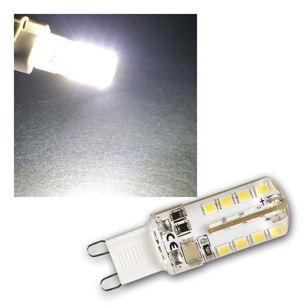 G9 LED Birne Silicia, neutralweiß 180lm 360° 230V
