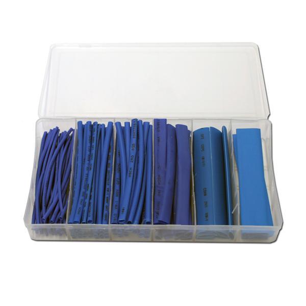flexibler blauer Kunststoffschlauch in einer praktischen Haushaltsbox