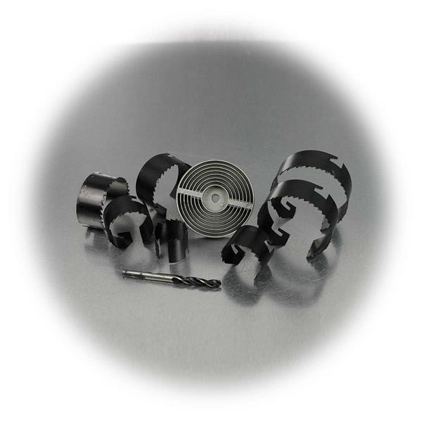 Bohrer Set mit Metallgehäuse, Zentrierbohrer und 7 Schnellwechseleinsätze