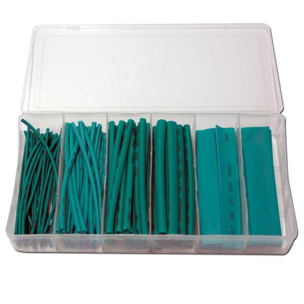 flexibler grüner Kunststoffschlauch in einer praktischen Haushaltsbox