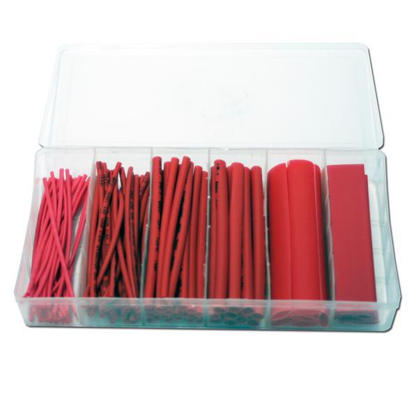 flexibler roter Kunststoffschlauch in einer praktischen Haushaltsbox