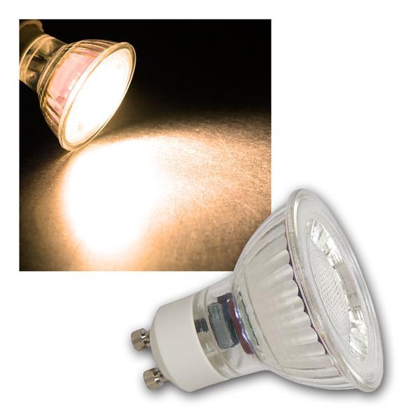 5x GU10 LED Strahler MCOB, 2W 100lm warmweiß 36°