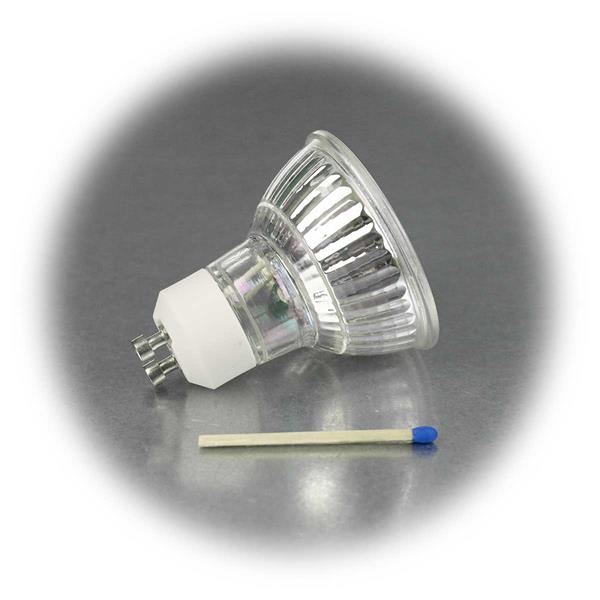LED Leuchtmittel GU10 hat eine 2W Highpower COB LED in einem Glasgehäuse