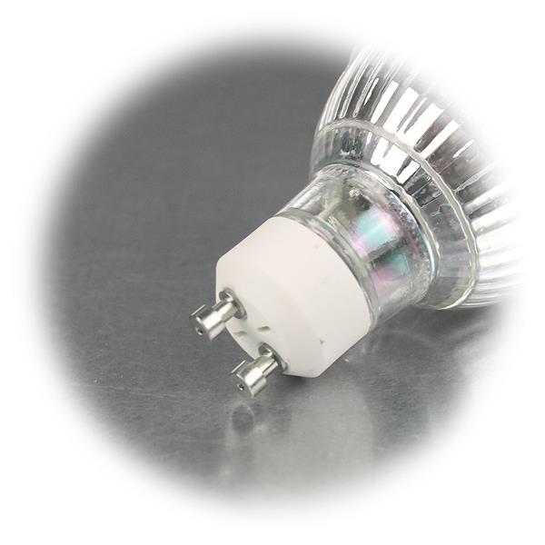 LED Energiesparlampe für 230V mit Sockel GU10 und nur 2W Verbrauch