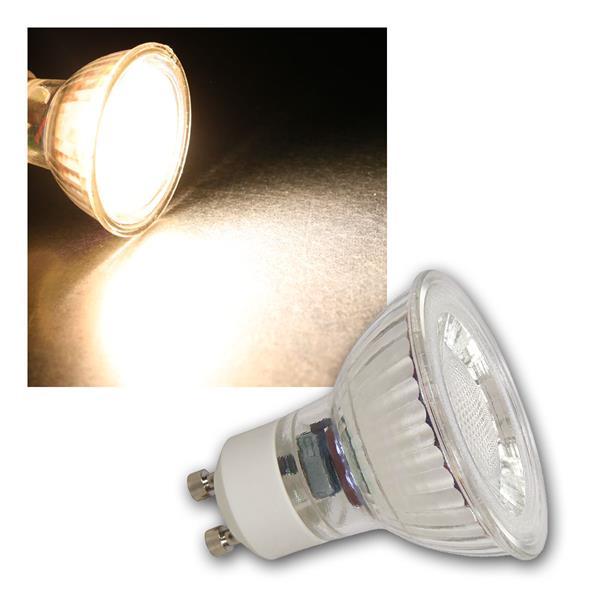 GU10 LED Strahler MCOB, 3W 250lm warmweiß 36°