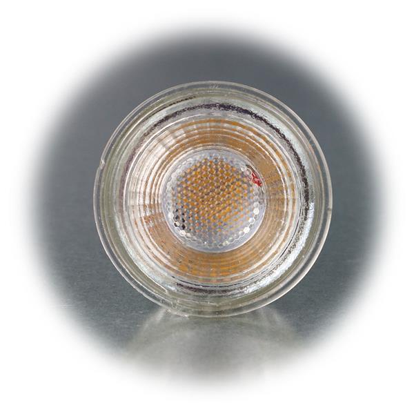 GU10 LED Leuchte im Halogenlook mit dem Maß 50x53mm (øxL)