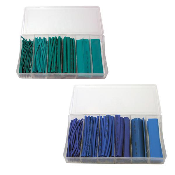 Schrumpfschlauch Set mit verschiedenen Durchmessern und Farben, je 10cm lang